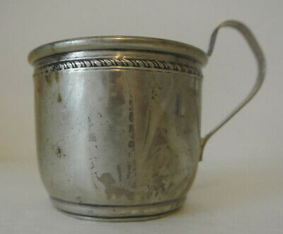 Lovely ANTIQUE NS CO Sterling Silver BABY CUP 38g Rope Design NSCO Newburyport