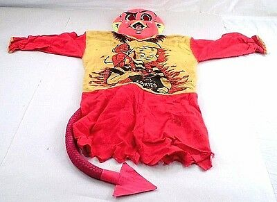 1950s Hot Stuff Devil Made Me Do It Boy Eating Cookies Child's Halloween Costume