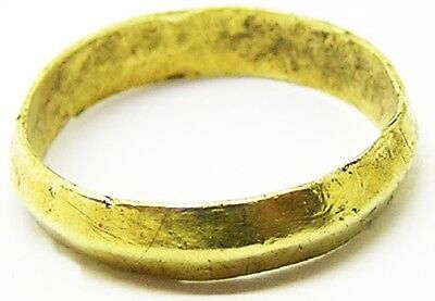 Rare Excavated Medieval Gold Wedding Ring c. 12th - 14th century A.D. Posy Type