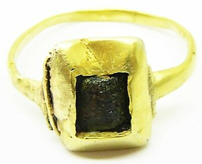 Charming Medieval Gold Finger Ring dating to the 14th century Wearable Size 7