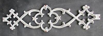 "ORNATE FLEUR de LIS STYLE CAST ALUMINUM  PEDIMENT CREST 28"" wide"