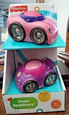 Fisher Price Lil Zoomers Sweet Speedsters Pink & Purple Cars *new*