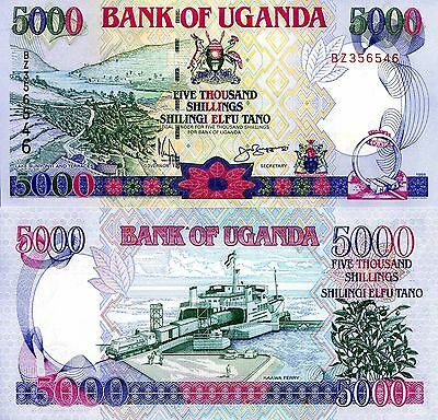 UGANDA 5000 Shillings Banknote World Paper Money UNC Currency Pick p37b 1998