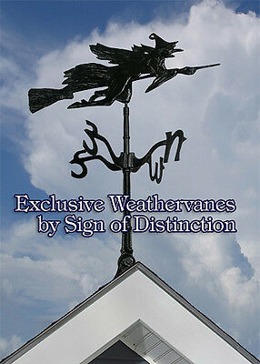 Whitehall Flying Witch Rooftop Weathervane Ships FAST with Mount Rust-Proof