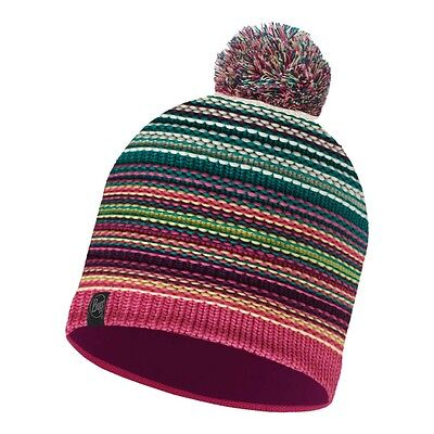 Buff   Knitted and Polar Hat Buff  One Size Neper Magenta