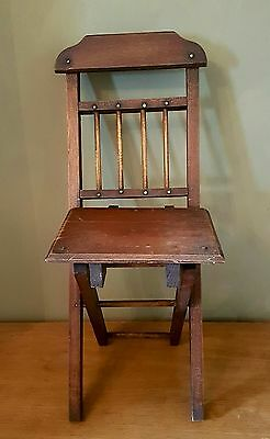 YoreVintage - Edwardian Antique 1910 Child's Church Folding Chair