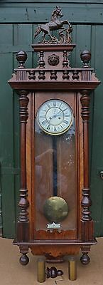 Very Large Old Impressive Looking Double Weighted Vienna Wall Clock