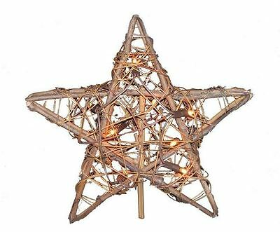 Willow Star Clear Light Up Christmas Tree Topper
