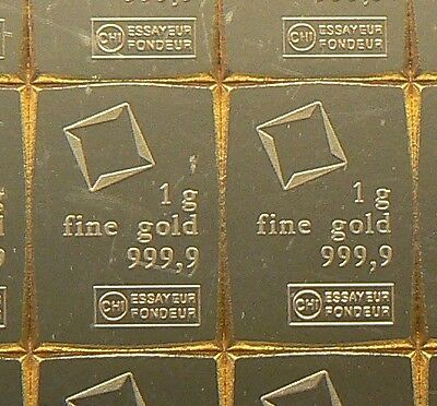 Two 1 Gram Valcambi Suisse Gold Bars .9999 Pure *lowest Bin Price*
