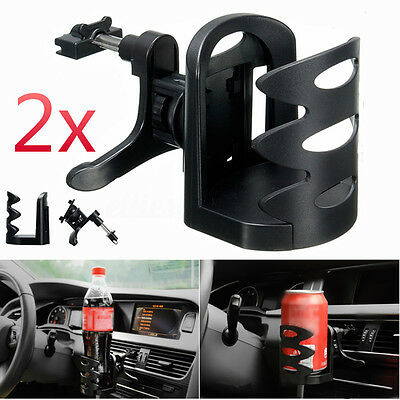 2PCS Car Vehicle Air Vent Water Bottle Can Holder Drink Cup Stand Mount AU