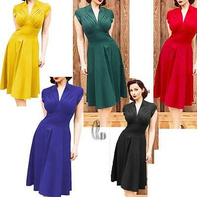 WHOLESALE BULK LOT 10 MIXED COLOUR SIZE 50'S Vintage Retro Dress dr043