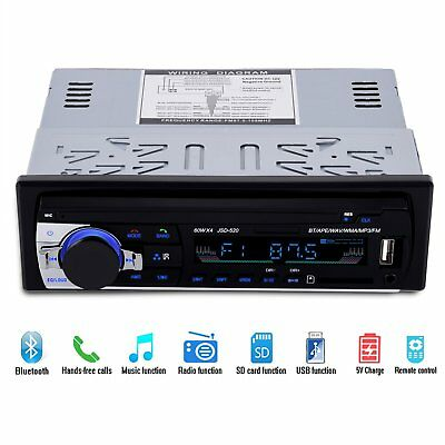 Car Radio Stereo Digital Media Player Mp3 Receiver With Front USB AUX & SD FM/AM