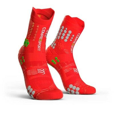 Compressport Racing socks V3.0 Trail - Red/White