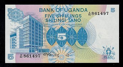 Uganda  5  Shillings ( 1979 )  A/82  Pick # 10  Unc Less.