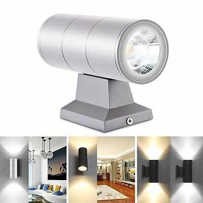 10W Dual-Head Cylinder COB LED Light Lamp Wall Mount Up &Down Outdoor Waterproof