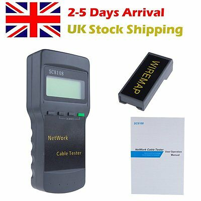 Network LAN Length Telephone Cable Location Tester Meter Measure SC8108 RJ45 HOT