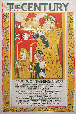 THE CENTURY MAGAZINE for XMAS original 1895 poster by Louis Rhead
