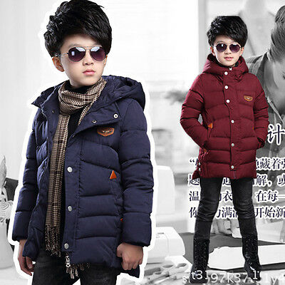 2017 NEW BOYS CLOTHES Winter Thick Coat 9 yr Kids Cotton-padded Hooded Jackets