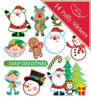 Christmas 14 Santa Elf Tree Window Wall Stickers Party Decoration Hanging Clings