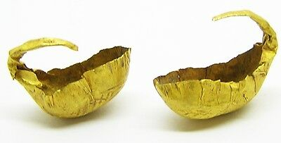 Superb Set of Excavated Early Bronze Age Gold Basket Earrings c. 2400-2200 BC