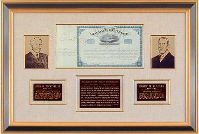 John D. Rockefeller Sr. - Stock Certificate Signed 11/09/1883 With Co-Signers