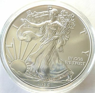2015 American Silver Eagle .999 1 Oz $1 Silver Bullion Mint Coin BU