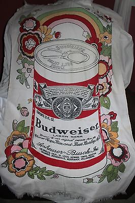 Vintage Budweiser Flower Beer Can Cannon Cotton Beach Towel