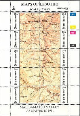 Lesotho 1996 Maps/Map-making/Geography/Cartography/History  3 x 10v shts (s461a)