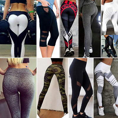 High Waist Women Yoga Fitness Leggings Running Gym Stretch Sports Pants Trousers