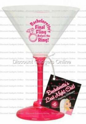 George's Funfactory Final Fling Flashing Martini Glass Party Fun Serving Ware