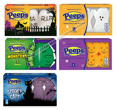 PEEPS^1.125 oz Mini Pack HALLOWEEN Marshmallow Candy Exp. 5/18+ *YOU CHOOSE* New