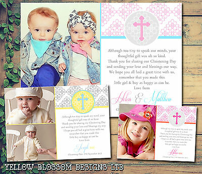 Personalised Thank You Cards Announcement Christening Baptism