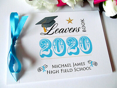 Personalised Secondary School Leavers University Graduation Autograph Class Book