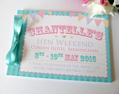 Personalised Guest Book Hen Party Night Weekend Guest Signature Memories Bunting