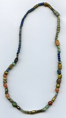 A Chain of Glass beads Early Middle Ages Russian Volga Finns medieval 8-9 cc