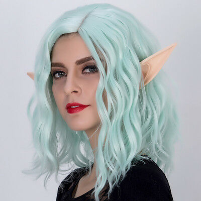 Cosplay Soft Fairy Pixie Elf Ears Halloween Party Pointed Prosthetic Tips Ear