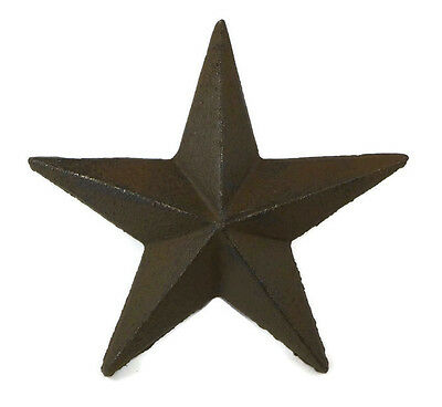 "5"" Cast Iron Nail Stars Set of 12 Craft Western Decor Texas Lone Star"