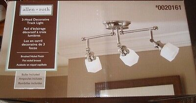 "Allen + Roth 3 Light 24""L Brushed Nickel Track Lighting Fixture-Bulbs Included"