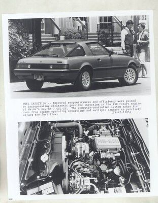 1984 Mazda RX7 GSL SE & 13B Rotary Engine ORIGINAL Factory Photograph wy4546