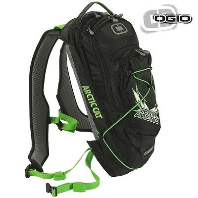 Arctic Cat OGIO Baja 70 Hydration Backpack Snowmobile - Black & Green - 6639-446
