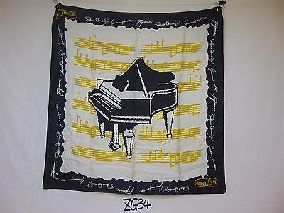 "The 3 Tenors Wall Hanging Handkerchief Pavarotti 33"" X 33"" Opera Rare Piano"