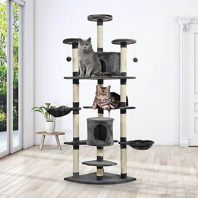 "Luxury 79""  Cat Scratching Tree Kitty Condo Multilevel Activity Center Pet House"