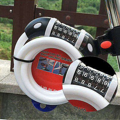 Bicycle Mountain Bike Anti Theft Code Password Lock Cable Security Accessories
