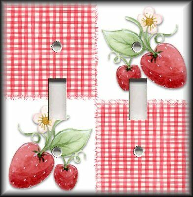 Metal Light Switch Plate Cover Strawberry Kitchen Decor Strawberries 14 99 Picclick