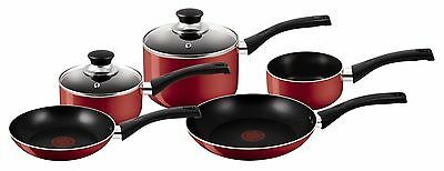 Tefal Bistro 5 Piece Red Cookware Set - RRP $199.95
