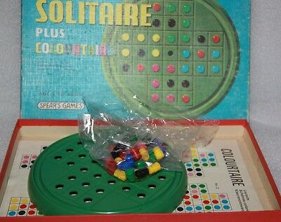 Spears Solitaire Plus Colourtaire Made In England Vintage Board Game