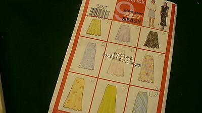Butterick Fast & Easy skirts  pattern No. 5431  Size 12 - 16 2001