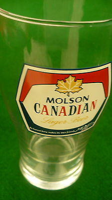 Molson Canadian beer drink glass Lager Canada 16 ounce