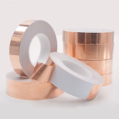 1Roll 6-30MM Copper Foil Tape Conductive Self Adhesive Shielding Heat Insulation