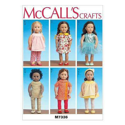 MCCALL\'S NÄHE MUSTER Kleidung Für 18 zoll Puppe 4 Outfits ...